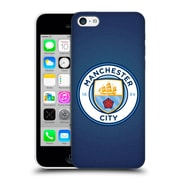 Official Manchester City Man City Fc Badge Pixels Obsidian Mosaic Full Colour Hard Back Case For Apple Iphone 5C