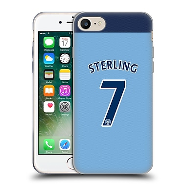 Official Manchester City Man City Fc Player Home Kit 2016/17 Group 2 Sterling Soft Gel Case For Apple Iphone 7
