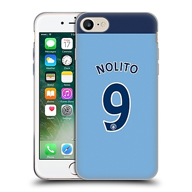 Official Manchester City Man City Fc Player Home Kit 2016/17 Group 2 Nolito Soft Gel Case For Apple Iphone 7