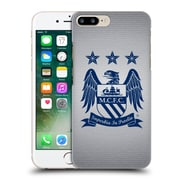 Official Manchester City Man City Fc Crest Pixels Obsidian Cube On Grey Hard Back Case For Apple Iphone 7 Plus