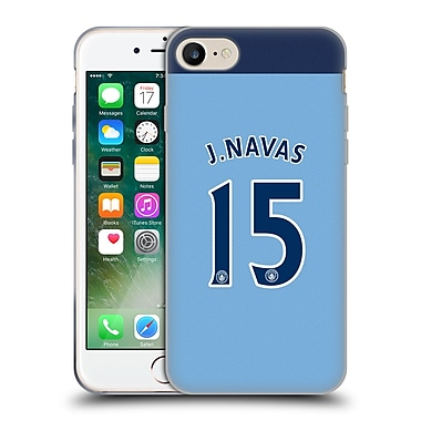 Official Manchester City Man City Fc Player Home Kit 2016/17 Group 2 Navas Soft Gel Case For Apple Iphone 7