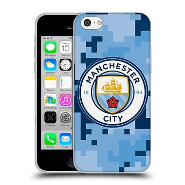 Official Manchester City Man City Fc Digital Camouflage Bluemoon Soft Gel Case For Apple Iphone 5C