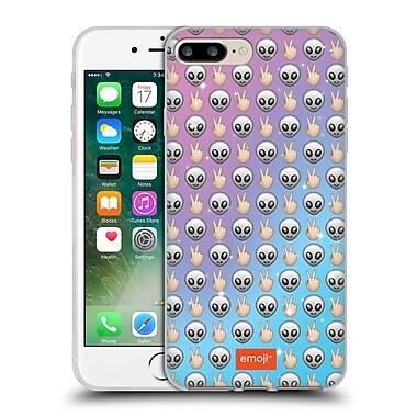 Official Emoji Patterns Alien Soft Gel Case For Apple Iphone 7 Plus
