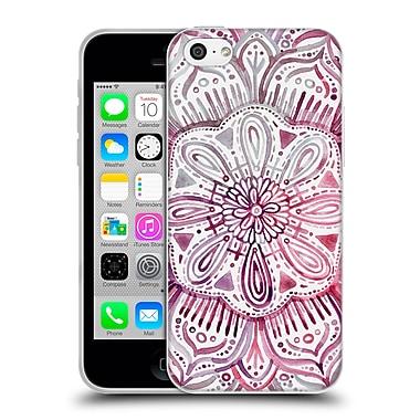 Official Micklyn Le Feuvre Mandala 2 Burgundy Blush Watercolour Soft Gel Case For Apple Iphone 5C
