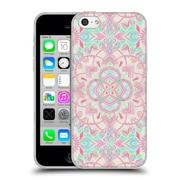 Official Micklyn Le Feuvre Mandala 2 Mint And Blush Pink Painted Soft Gel Case For Apple Iphone 5C