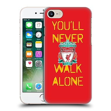 Official Liverpool Football Club Crest Never Walk Alone Spraypaint Red Hard Back Case For Apple Iphone 7