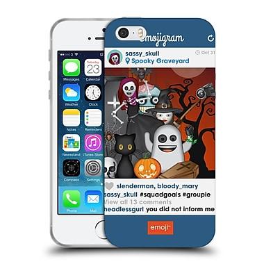 Official Emoji Halloween Parodies Squad Goals Soft Gel Case For Apple Iphone 5 / 5S / Se
