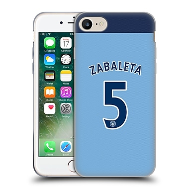 Official Manchester City Man City Fc Player Home Kit 2016/17 Group 1 Zabaleta Soft Gel Case For Apple Iphone 7
