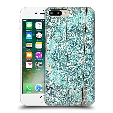 Official Micklyn Le Feuvre On Wood Teal And Aqua Botanical Doodle On Weathered Hard Back Case For Apple Iphone 7 Plus
