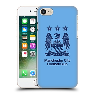 Official Manchester City Man City Fc Crest Obsidian On Sky Blue Hard Back Case For Apple Iphone 7