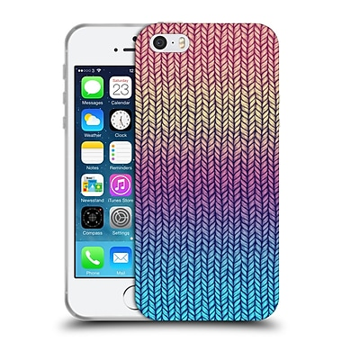 Official Micklyn Le Feuvre Patterns Rainbow Chunky Knit Soft Gel Case For Apple Iphone 5 / 5S / Se