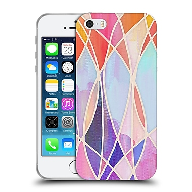 Official Micklyn Le Feuvre Patterns Purple And Peach Love Pastel Soft Gel Case For Apple Iphone 5 / 5S / Se