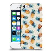 Official Micklyn Le Feuvre Patterns Pineapples And Crystals Soft Gel Case For Apple Iphone 5 / 5S / Se