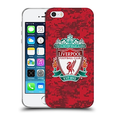 Official Liverpool Football Club Digital Camouflage Home Red Crest Soft Gel Case For Apple Iphone 5 / 5S / Se