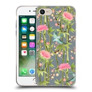 Official Micklyn Le Feuvre Patterns 3 Bamboo Birds And Blossoms On Grey Soft Gel Case For Apple Iphone 7