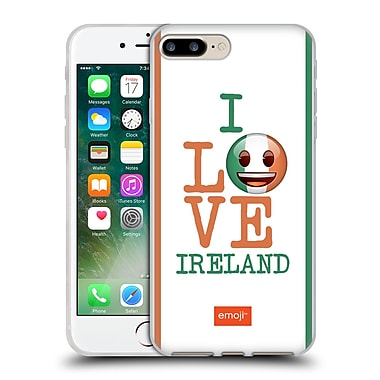 Official Emoji I Love My Country Ireland Soft Gel Case For Apple Iphone 7 Plus