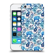Official Micklyn Le Feuvre Patterns 2 Watercolour Floral Elephant Soft Gel Case For Apple Iphone 5 / 5S / Se