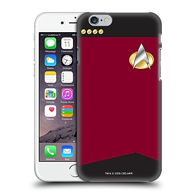 Official Star Trek Uniforms And Badges Tng Captain Hard Back Case For Apple Iphone 6 / 6S