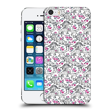 Official Micklyn Le Feuvre Animals Dinosaurs And Roses Hard Back Case For Apple Iphone 5 / 5S / Se