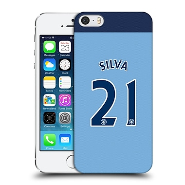 Official Manchester City Man City Fc Player Home Kit 2016/17 Group 2 Silva Hard Back Case For Apple Iphone 5 / 5S / Se
