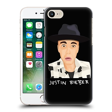 Official Justin Bieber Justmojis Funny Face Hard Back Case For Apple Iphone 7