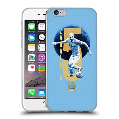 Official Manchester City Man City Fc Players Pablo Zabaleta Soft Gel Case For Apple Iphone 6 / 6S