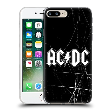 Official Ac/Dc Acdc Logo White Soft Gel Case For Apple Iphone 7 Plus