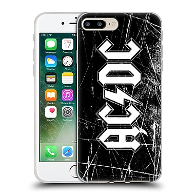 Official Ac/Dc Acdc Logo White Grunge Soft Gel Case For Apple Iphone 7 Plus