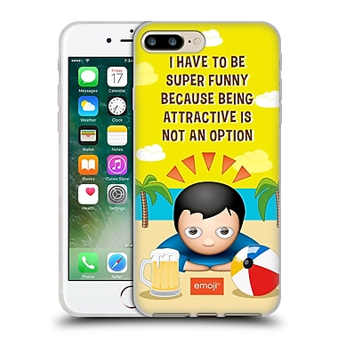 Official Emoji Funny Summer Quotes Not An Option Soft Gel Case For Apple Iphone 7 Plus