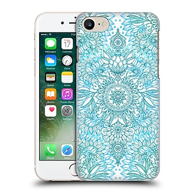 Official Micklyn Le Feuvre Doodle Patterns Teal Aqua And White Hard Back Case For Apple Iphone 7