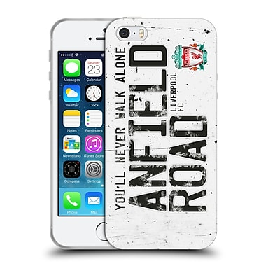 Official Liverpool Football Club Crest Never Walk Alone Anfield Road White Soft Gel Case For Apple Iphone 5 / 5S / Se