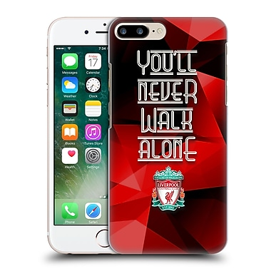 Official Liverpool Football Club Crest Never Walk Alone Red Geo Hard Back Case For Apple Iphone 7 Plus