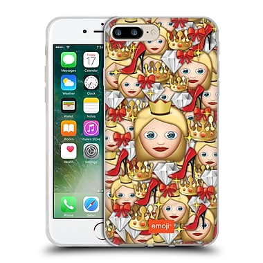 Official Emoji Full Patterns Queen Soft Gel Case For Apple Iphone 7 Plus