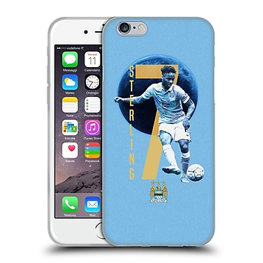 Official Manchester City Man City Fc Players Raheem Sterling Soft Gel Case For Apple Iphone 6 / 6S