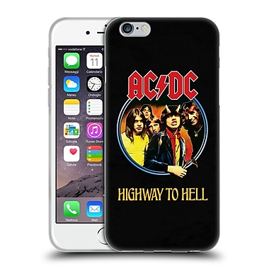 Official Ac/Dc Acdc Song Titles Highway To Hell Soft Gel Case For Apple Iphone 6 / 6S