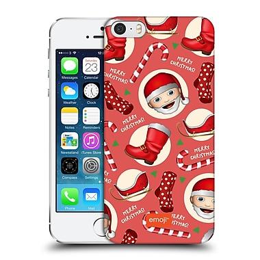 Official Emoji Christmas Patterns Santa Kit Hard Back Case For Apple Iphone 5 / 5S / Se