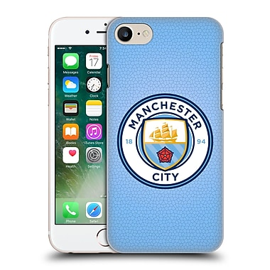 Official Manchester City Man City Fc Badge Pixels Blue Mosaic Full Colour Hard Back Case For Apple Iphone 7