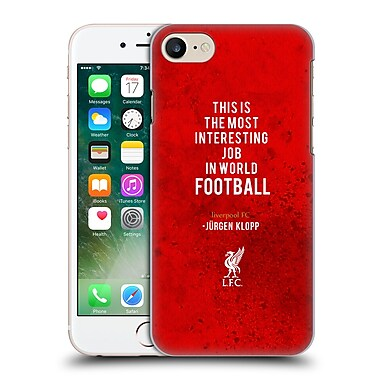 Official Liverpool Football Club Klopp Quotes Interesting Job Hard Back Case For Apple Iphone 7