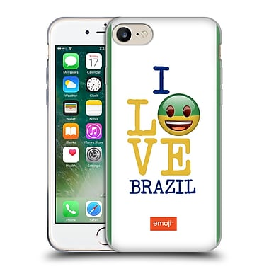 Official Emoji I Love My Country Brazil Soft Gel Case For Apple Iphone 7
