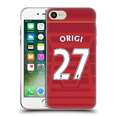 Official Liverpool Football Club Players Home Kit 16/17 Group 2 Origi Soft Gel Case For Apple Iphone 7