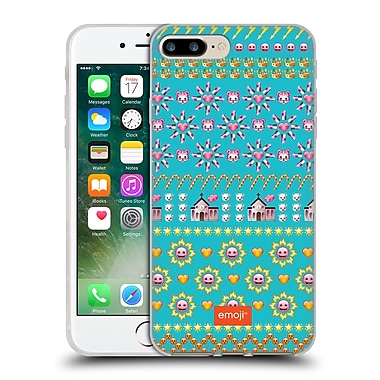 Official Emoji Assorted Prints Pink Faces Soft Gel Case For Apple Iphone 7 Plus