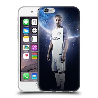 Official Manchester City Man City Fc Power Players Fernandinho Soft Gel Case For Apple Iphone 6 / 6S