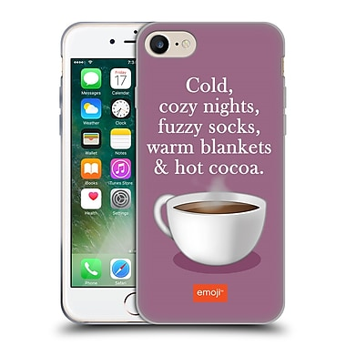 Official Emoji Winter Quotes Hot Cocoa Soft Gel Case For Apple Iphone 7