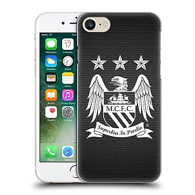Official Manchester City Man City Fc Crest Pixels One Colour Null Cube Hard Back Case For Apple Iphone 7