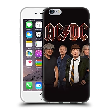 Official Ac/Dc Acdc Group Photo Crew Studio Shot Soft Gel Case For Apple Iphone 6 / 6S