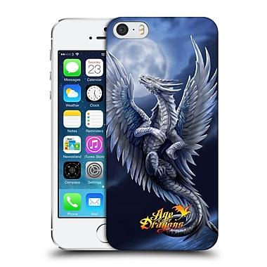 Official Anne Stokes Age Of Dragons Silver Hard Back Case For Apple Iphone 5 / 5S / Se