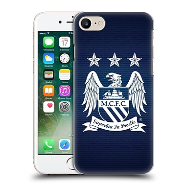 Official Manchester City Man City Fc Crest Pixels Obsidian Null Cube Hard Back Case For Apple Iphone 7