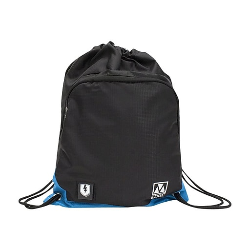 M-Edge Tech Sakpack with Battery Backpack, Black with Blue (BPK-DS6-N-BB)