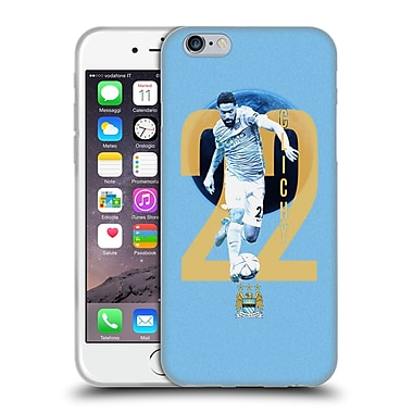 Official Manchester City Man City Fc Players Gael Clichy Soft Gel Case For Apple Iphone 6 / 6S