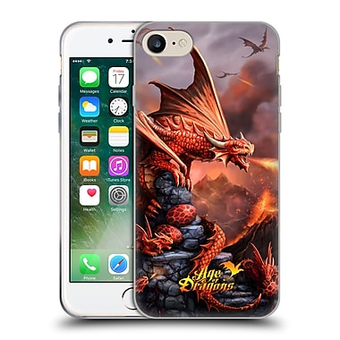 Official Anne Stokes Age Of Dragons Fire Soft Gel Case For Apple Iphone 7